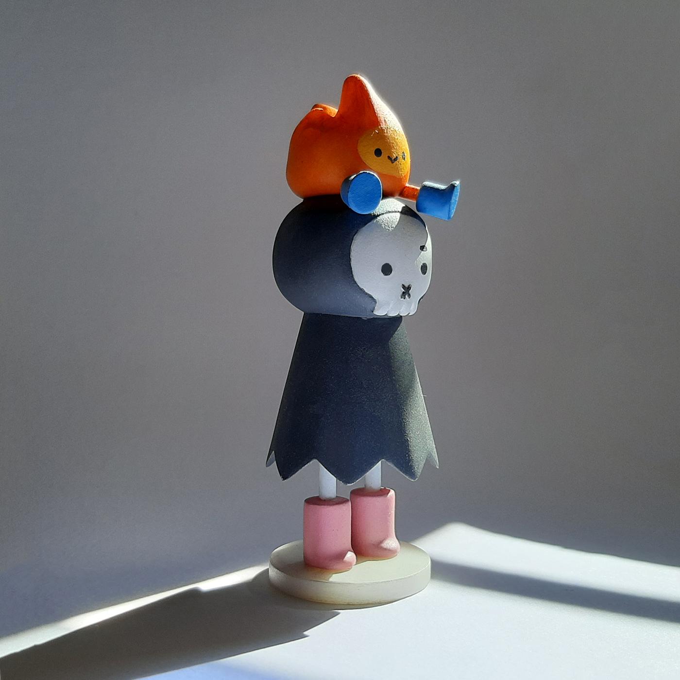 3D acrylic art toy figure