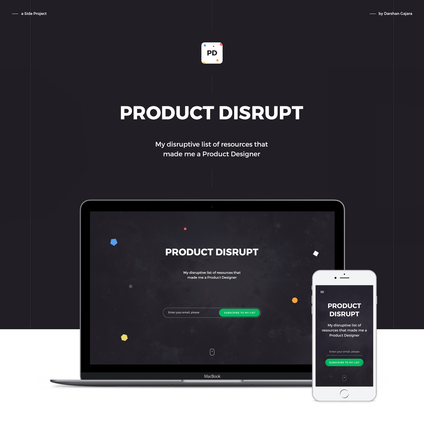 product design  disrupt One Page UI/UX resources freebie
