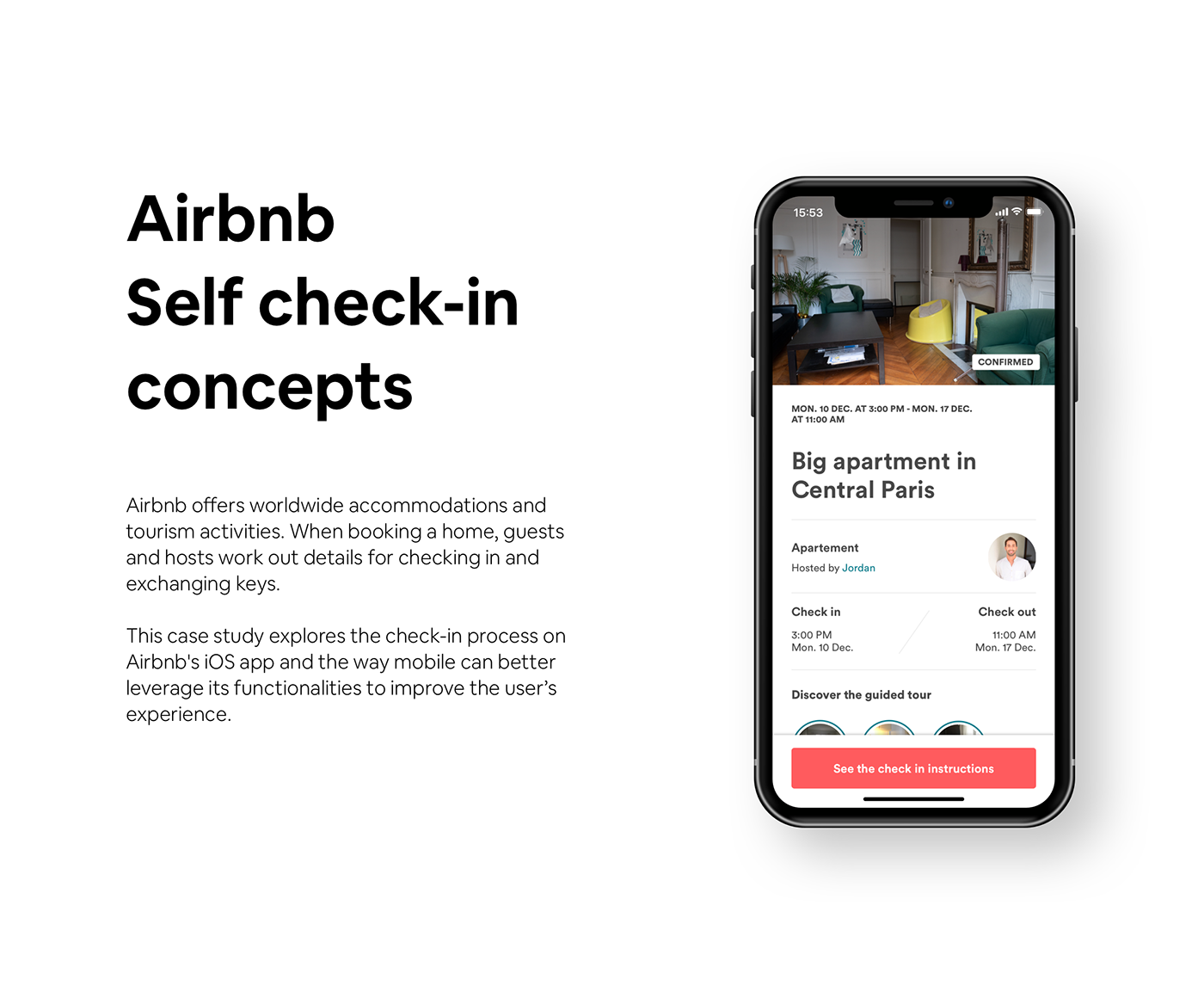 airbnb Self Check-in check-in product design  User Experience Design ux user interface design UI Prototyping