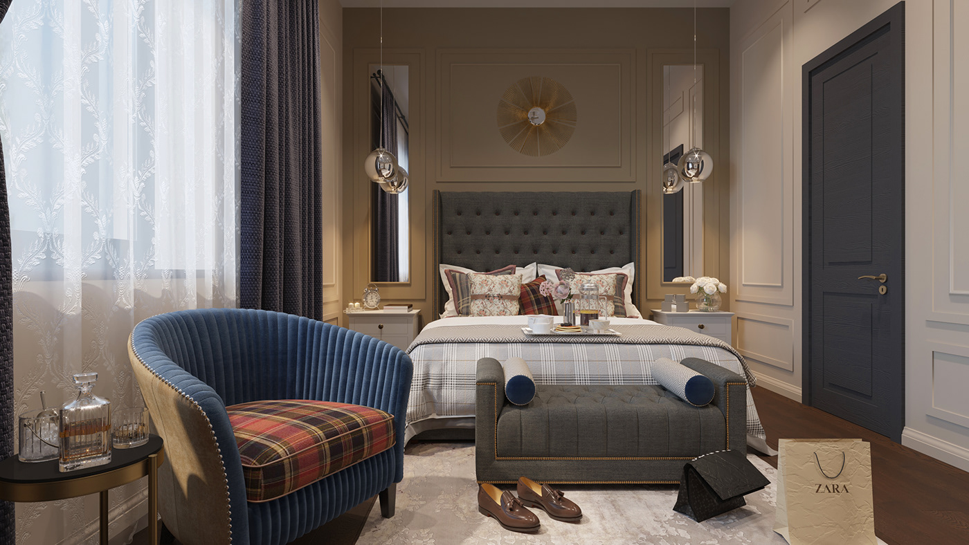 American-style interior design project by Ralph Lauren on ...