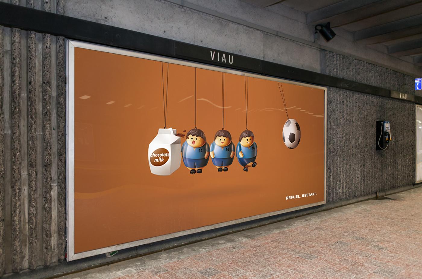 Advertising ,milk,chocolat,concept,Montreal,Quebec,tennis,Boxe,soccer