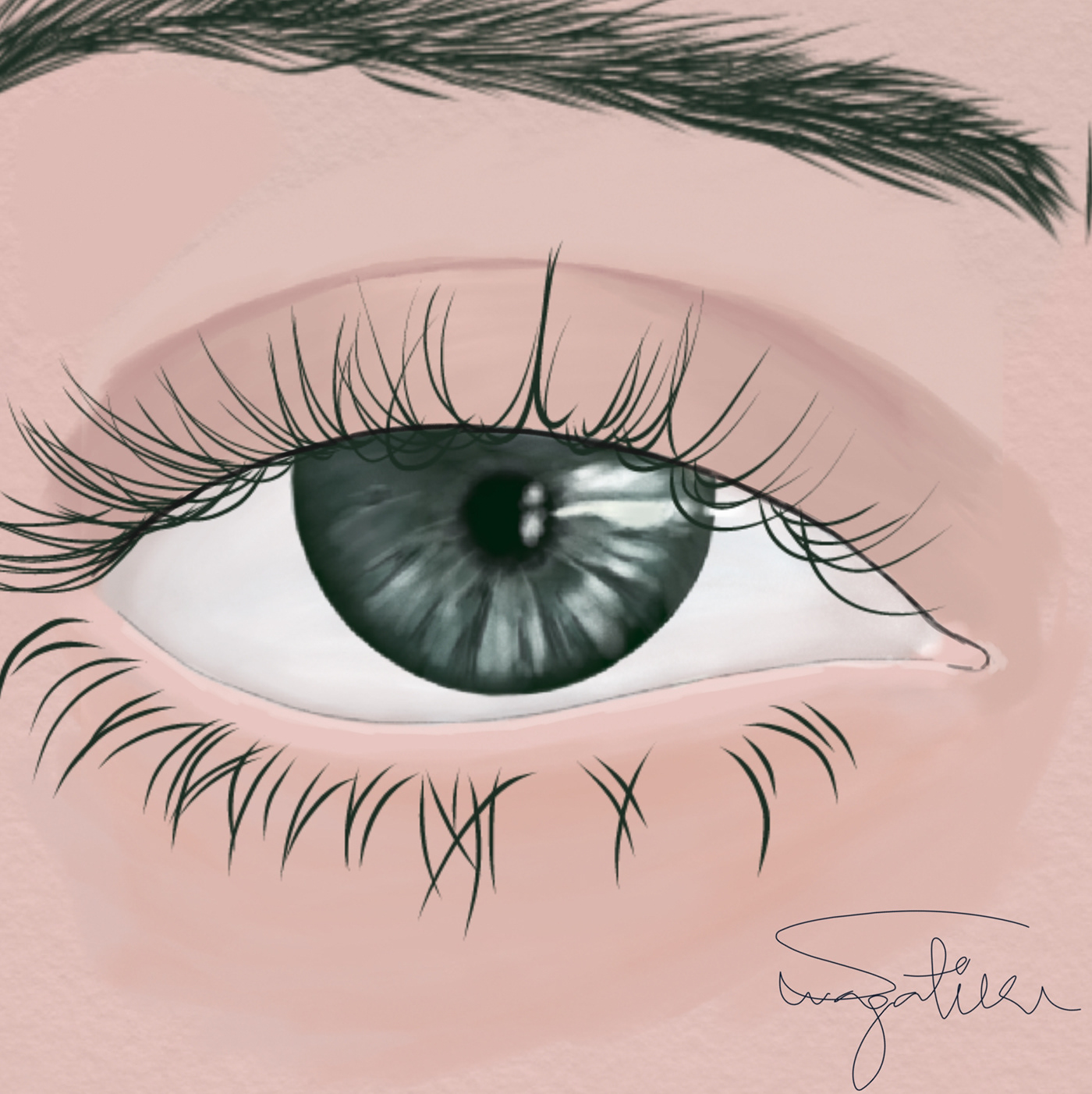 有創意感的24個手繪眼睛欣賞