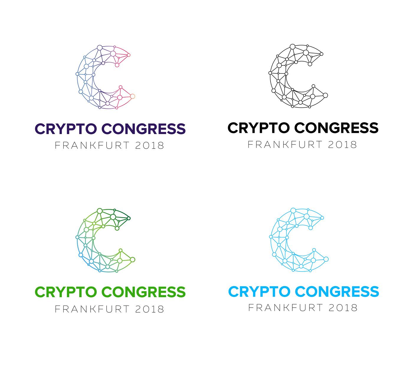 logo crypto bitcoin congress design
