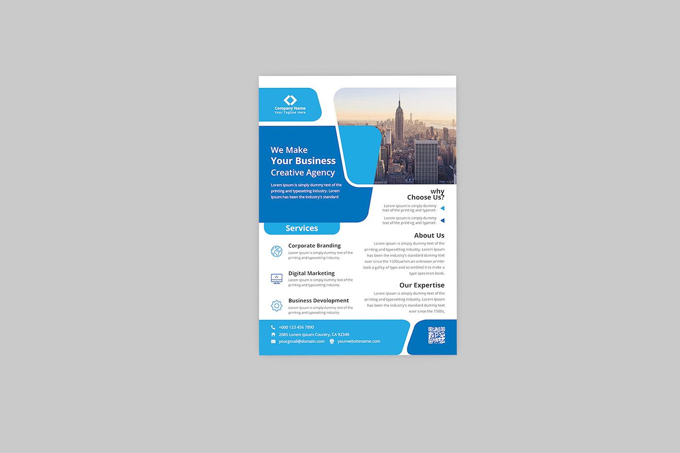 Print Ready Corporate Flyer Design On Behance