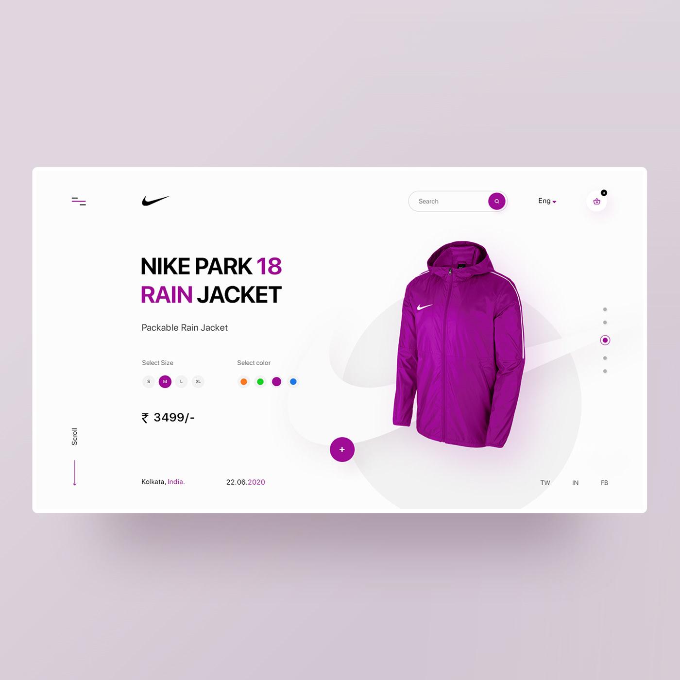 Clean Design designer designs minimal design Nike product design  ui design UX design Web Design  Website Design
