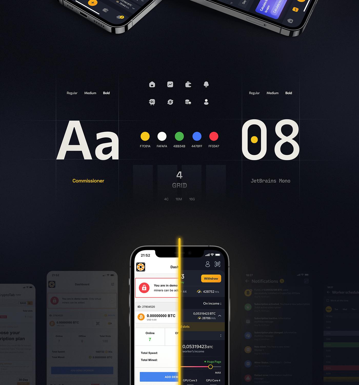 bitcoin dashboard Ecommerce game design  mobile Platform WALLET crypto landing page finance