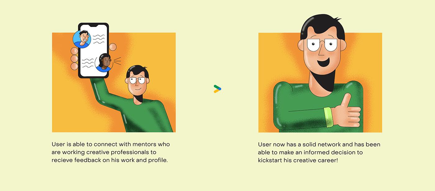 Image may contain: cartoon, illustration and human face