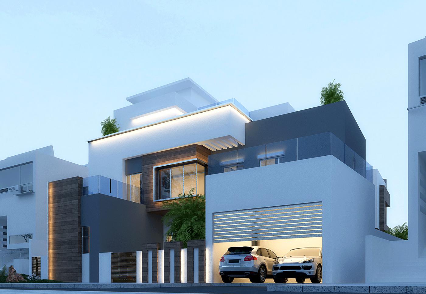 Dubai modern houses for Modern house villa