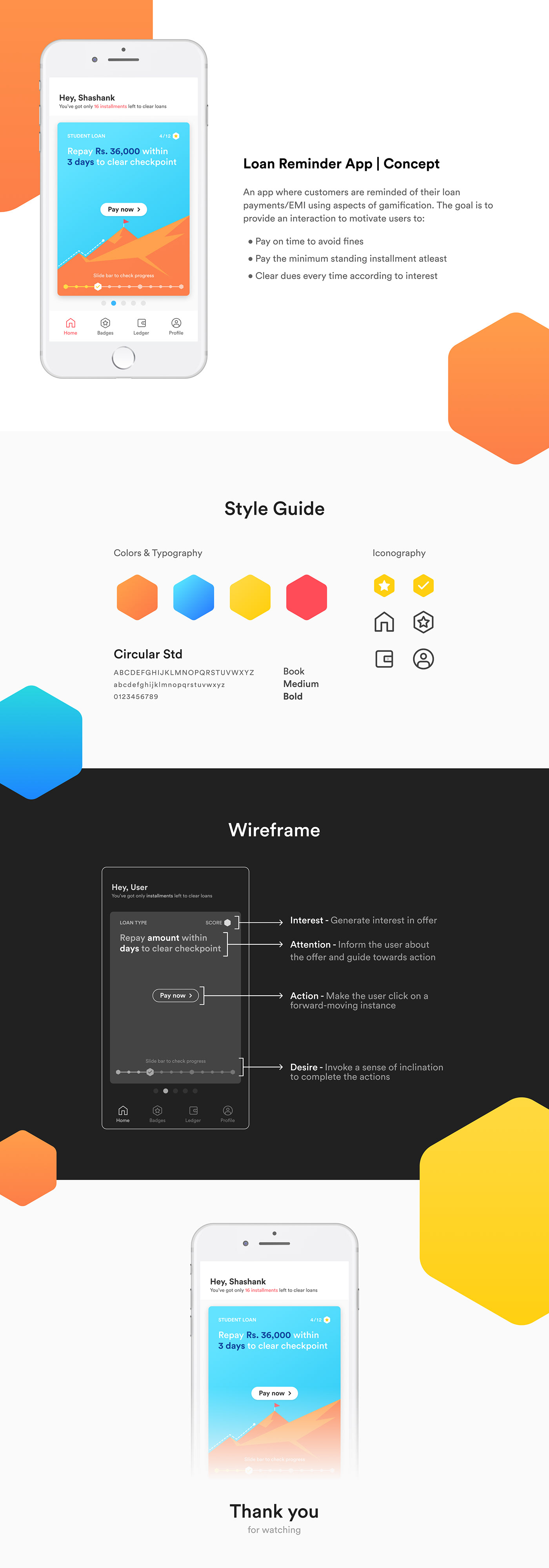 UI/UX app design loan UI ux concept wireframe