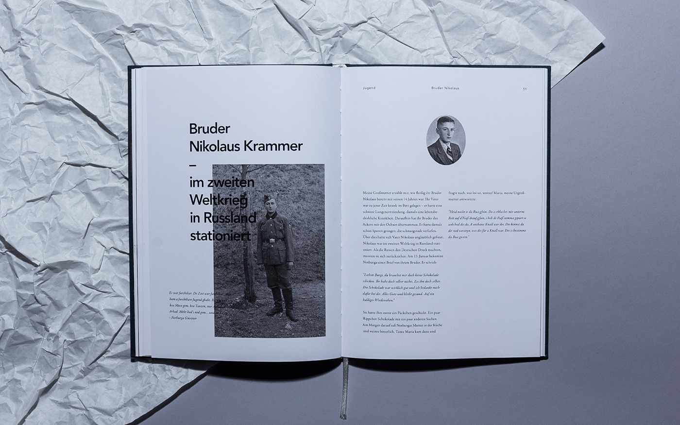 Notburga Gmeiner Lukas MANUEL altmann book Ancestors grandmother fakultät würzburg gestaltung FHWS