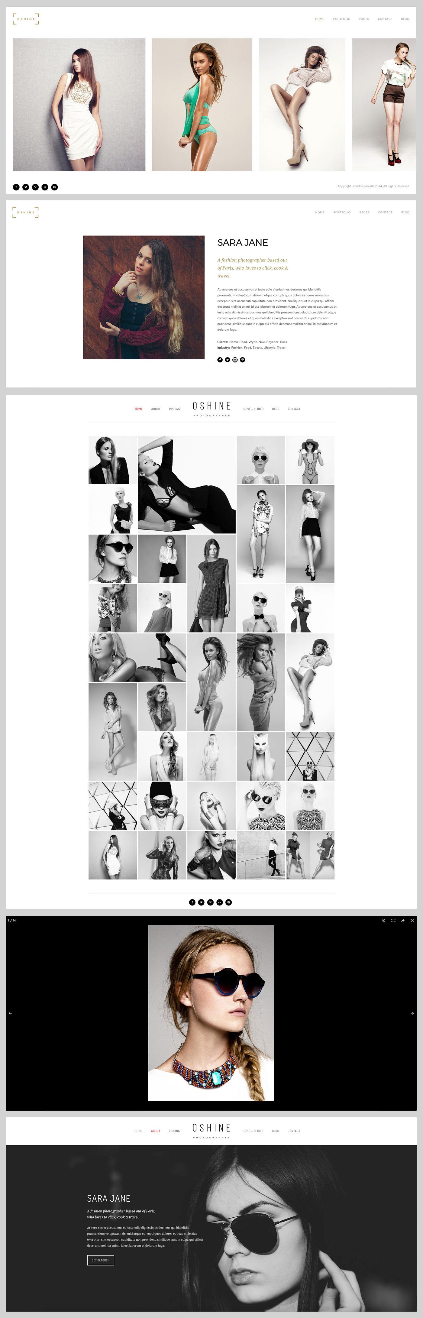 Wordpress Photography Portfolio Theme - Photostore
