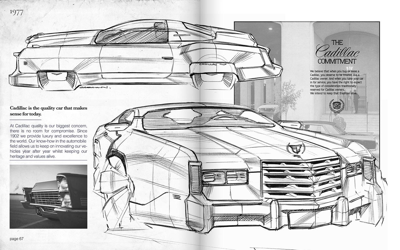 Handmade - American Cars on Behance