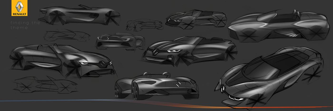 renault roadster automotivedesign automotive   sketch Render photoshop Alias 3D Supersport car cardesign design