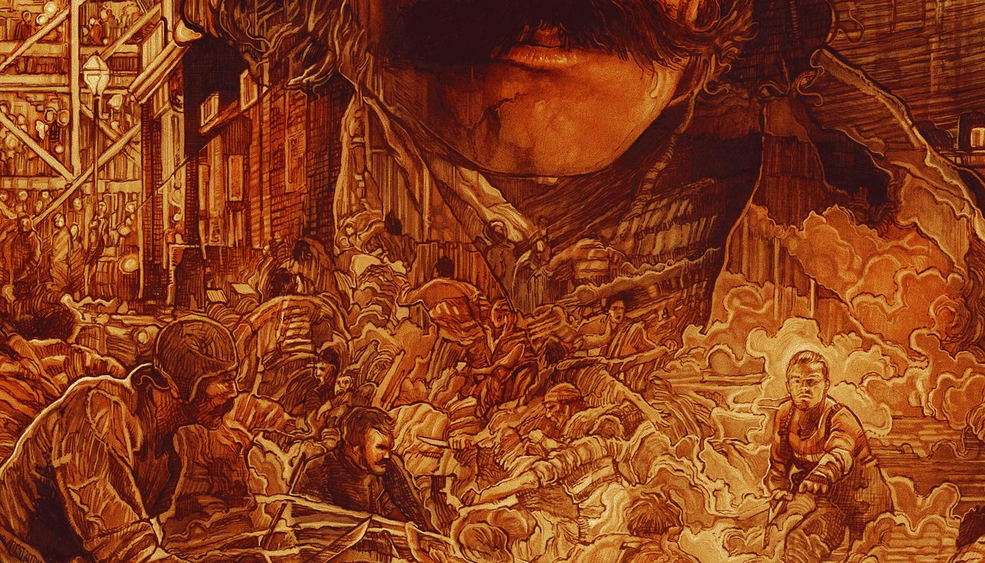 poster Film art gangsofnewyork Drawing  movieposter fanart screen print Private commission Krzysztof Domardzki StudioKxx
