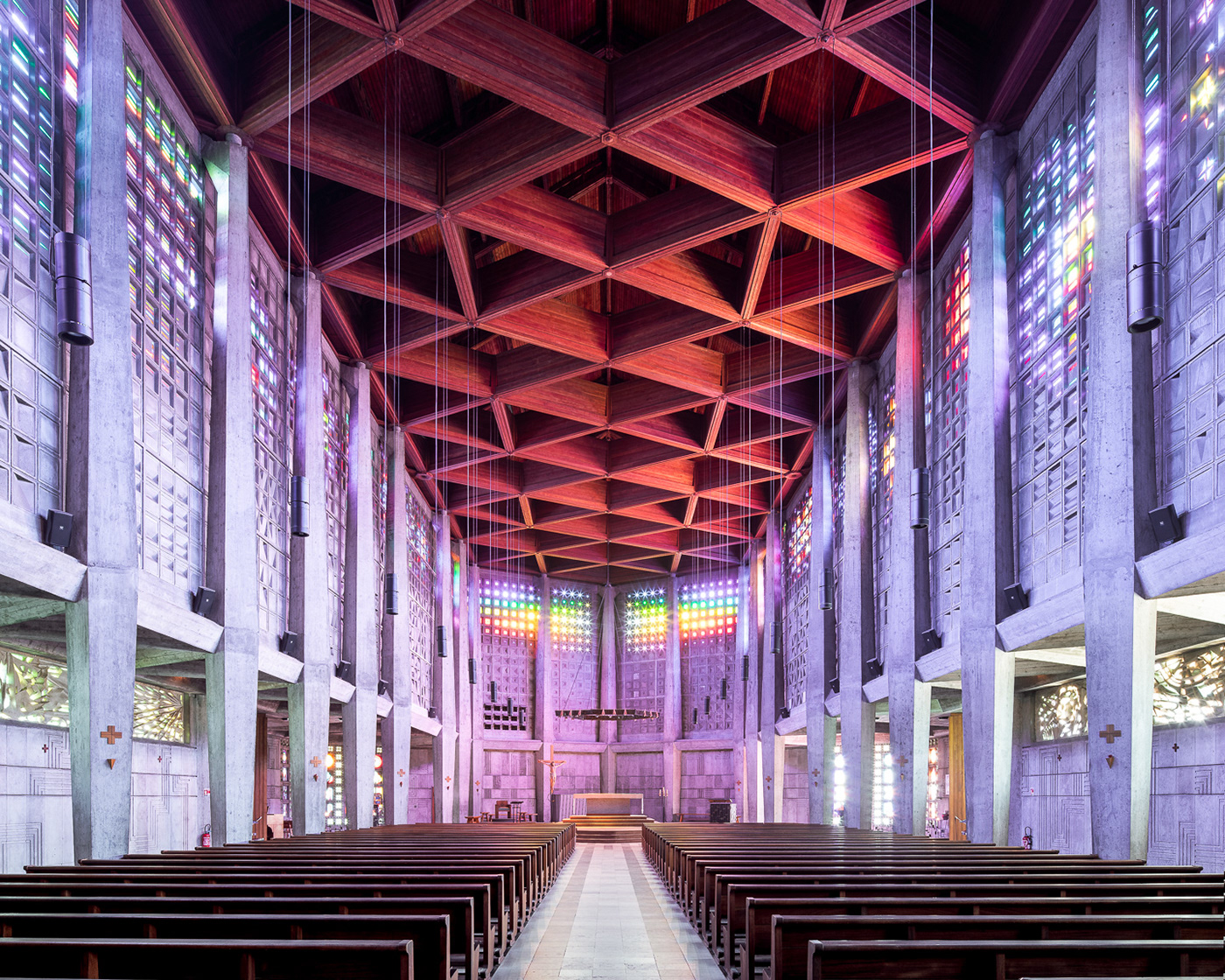 architecture cathedral Catholic church concrete Europe Interior modernarchitecture sacred sacredspaces