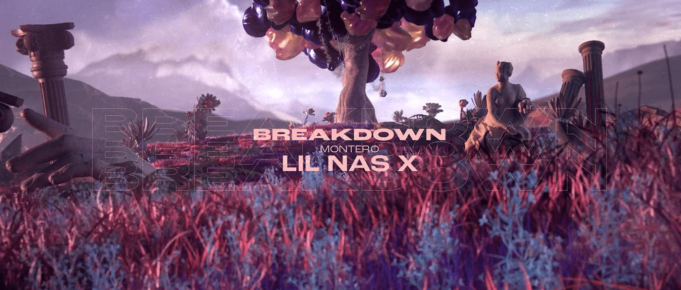 3D Breakdown c4d CGI heaven hell lil nas x music video Octane Render vfx