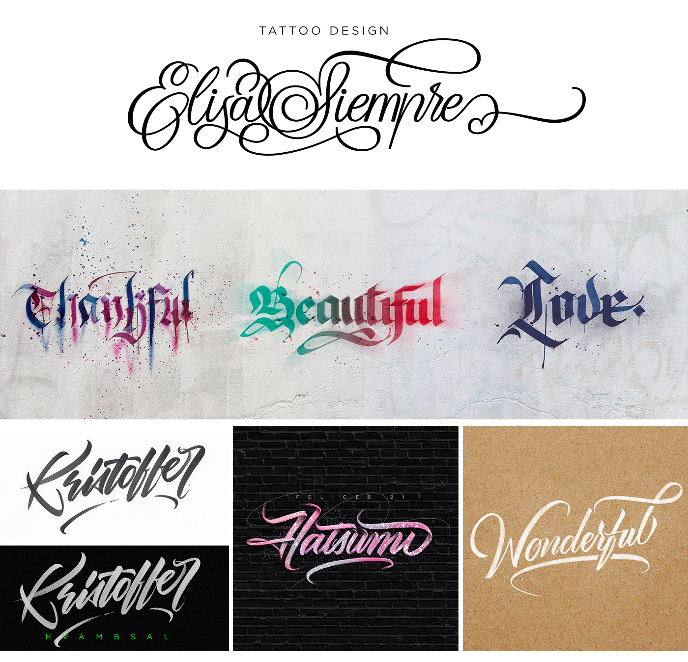 lettering Calligraphy   typography   letters types design