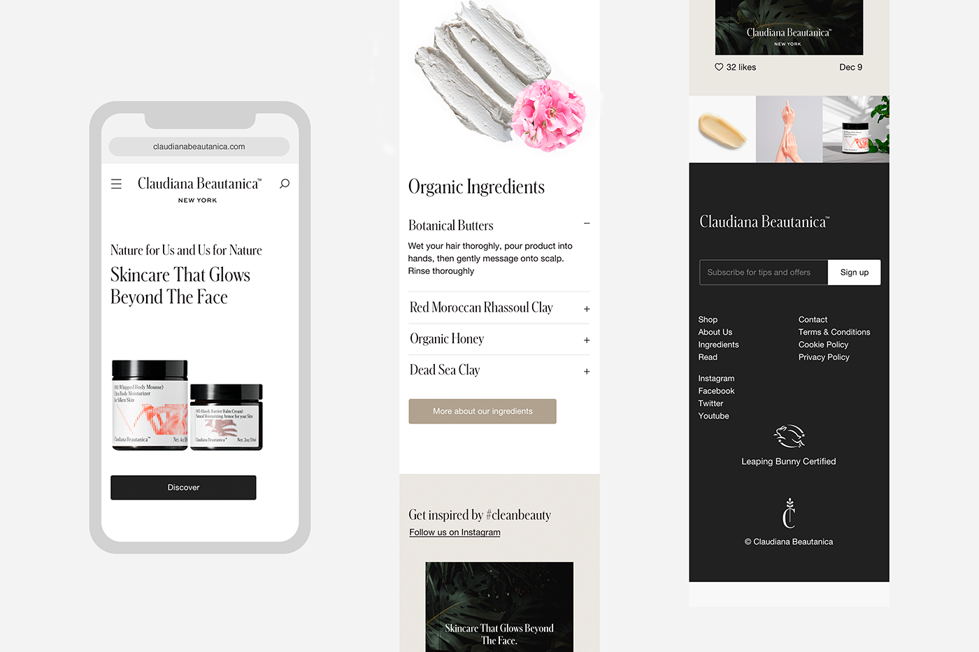 Website Shopify eComerce ArtDirection Photography  product skincare UI/UX newyork Socialmedia