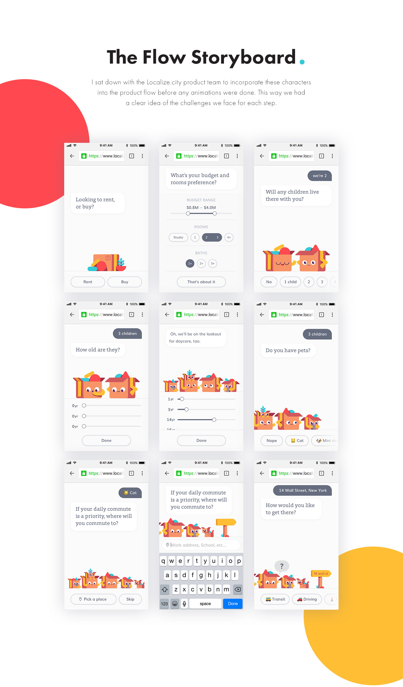 ux UI product Character design  animation  localize.city cute family
