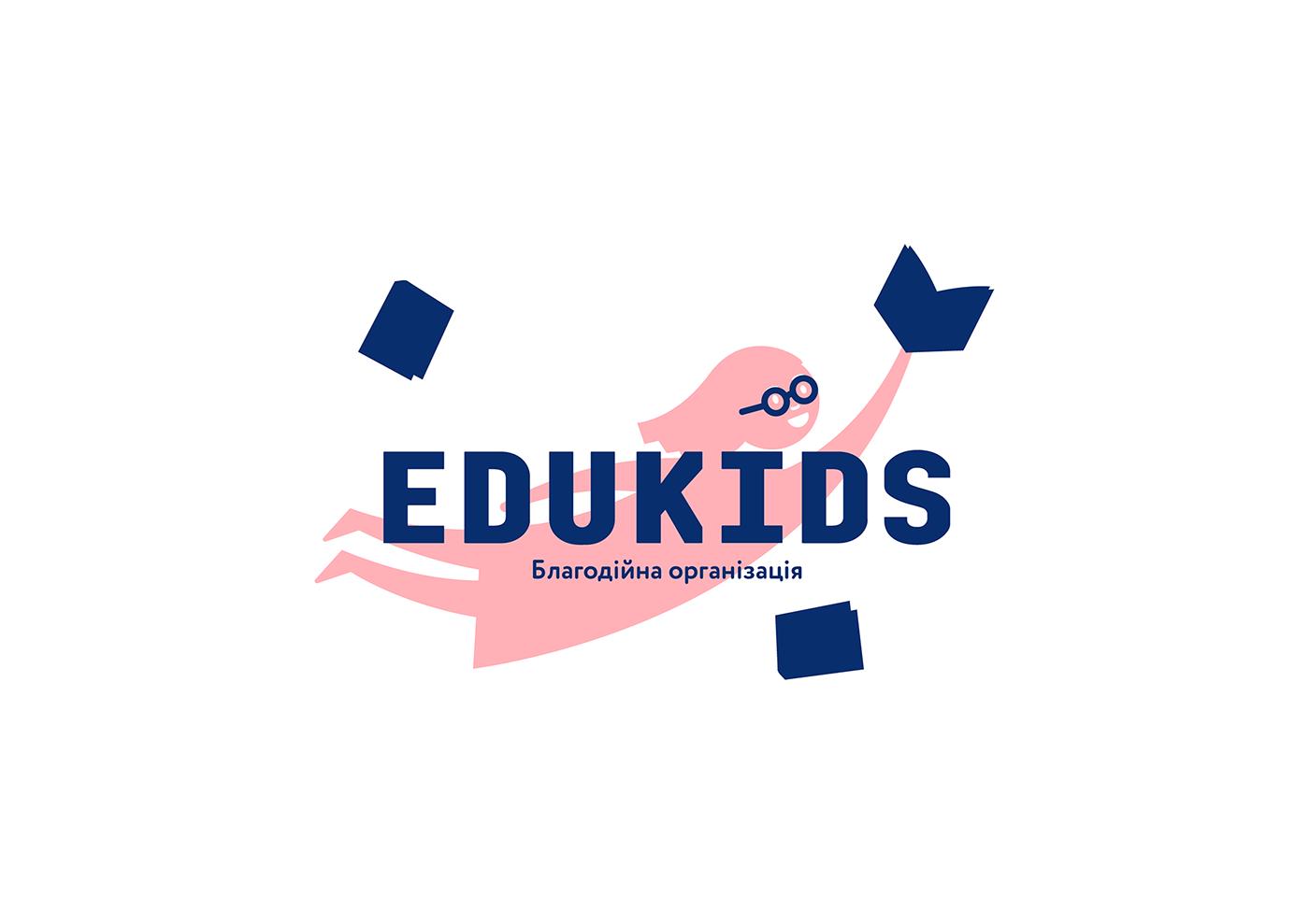 charity school Education UI ux Edukids children