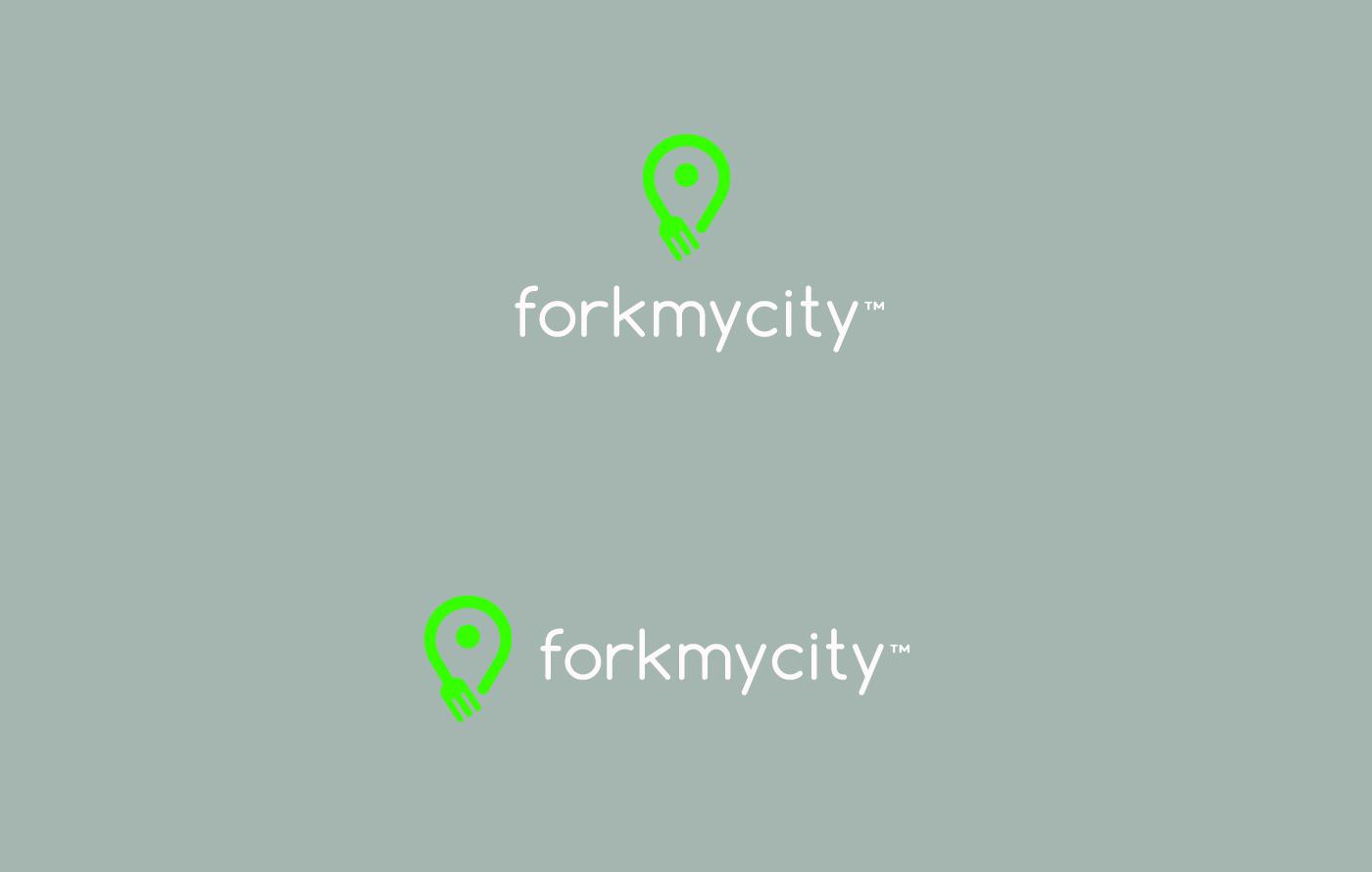 logo Travel traveller Food  fork my city nomad ecom