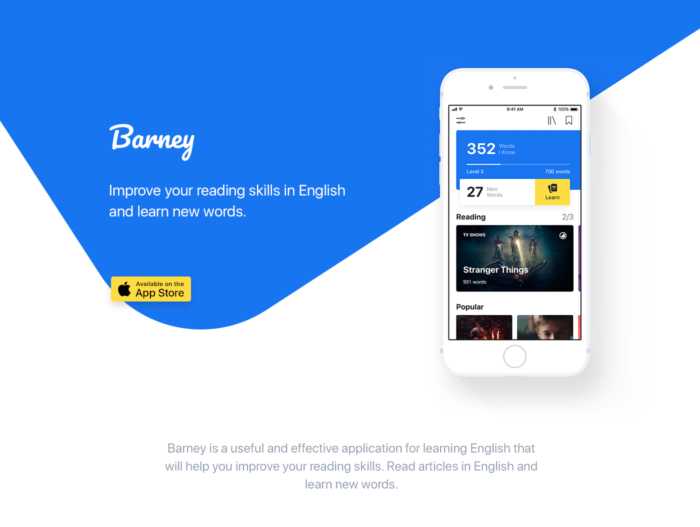 barney iphone apple ios english words learn read book text