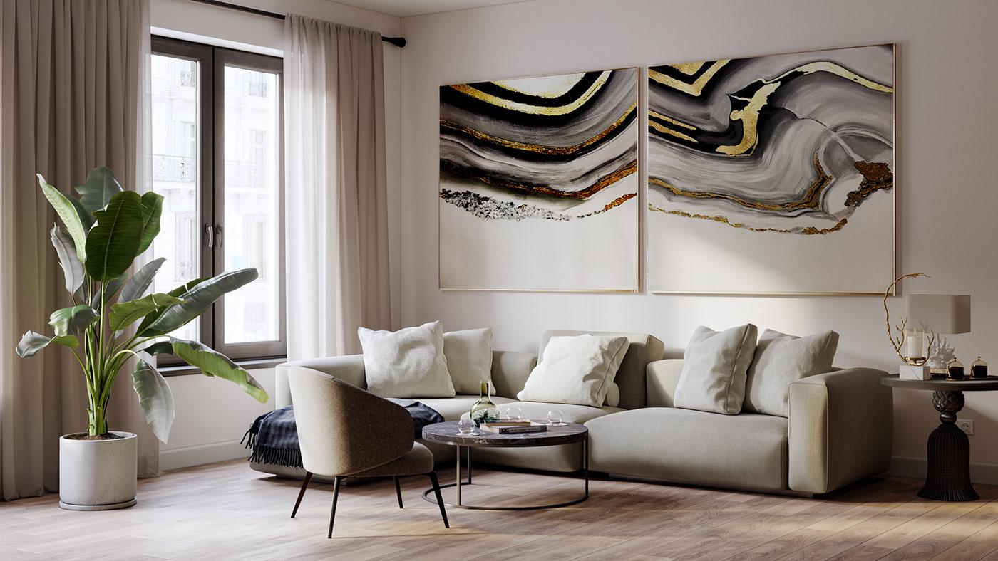 Interior interior design  3ds max corona renderer 3D Visualization architecture