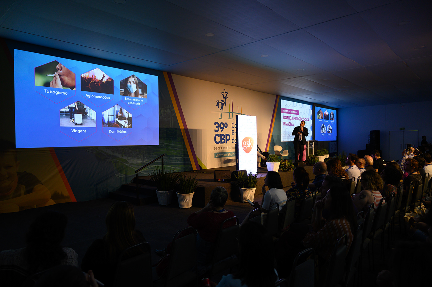 audiovisual bigscreen Event Evento GSK innovation inovação ledscreen