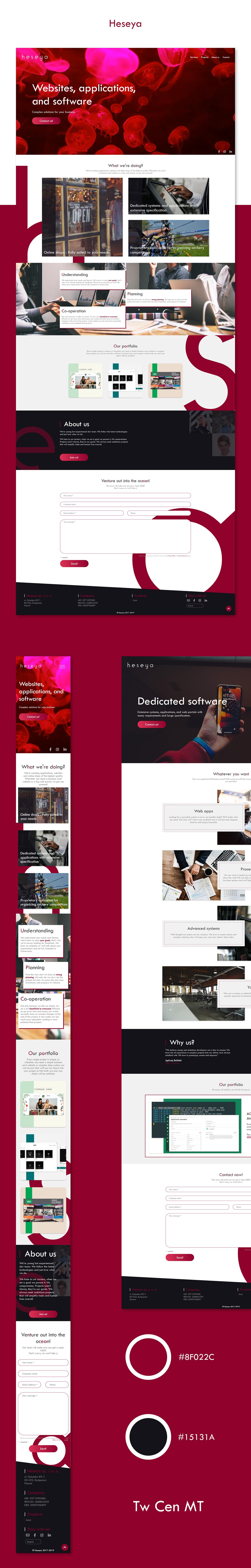 Website ux portfolio company