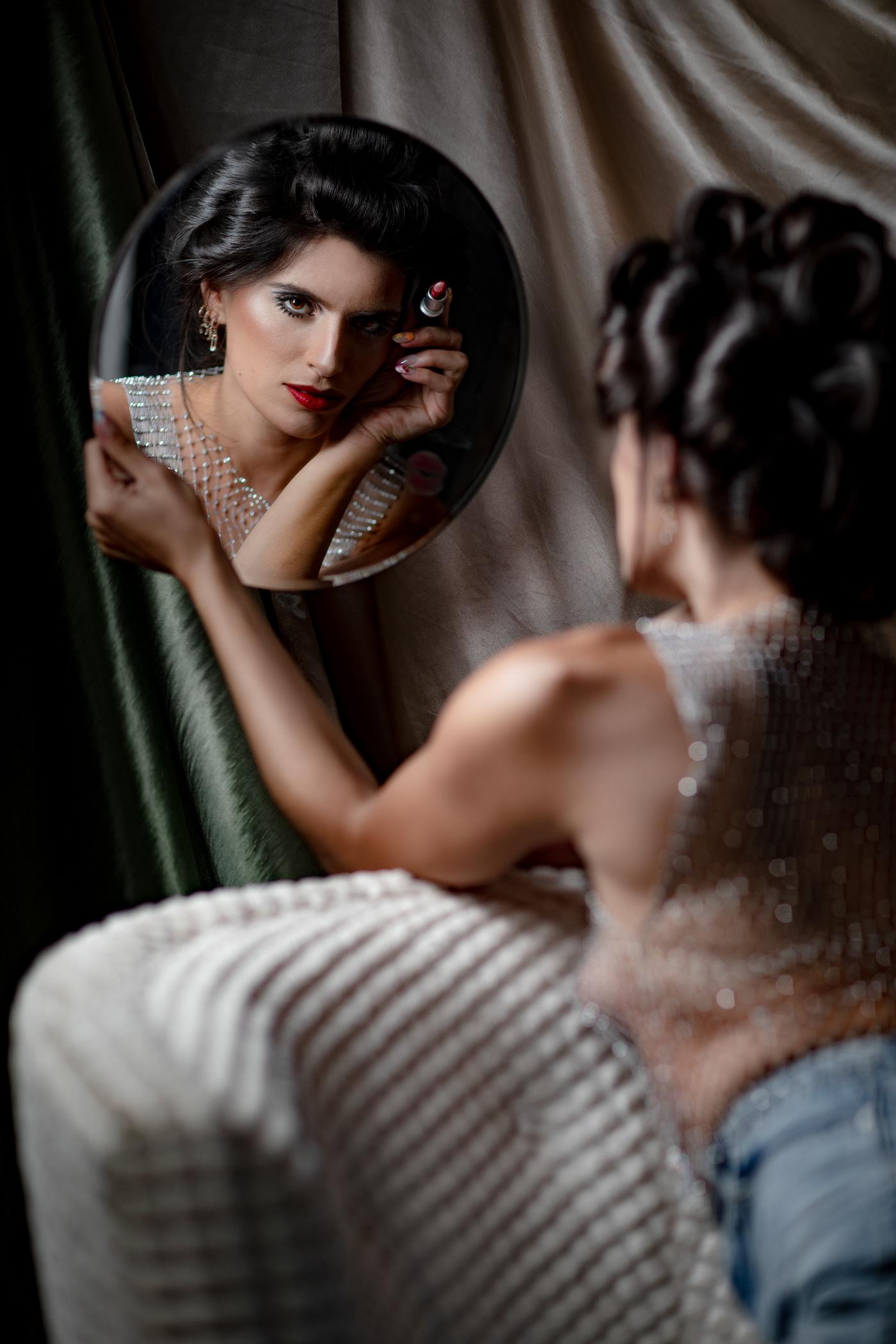 Canon Fashion  homestudio Los Angeles makeup model period piece retouching  Retro Technicolor