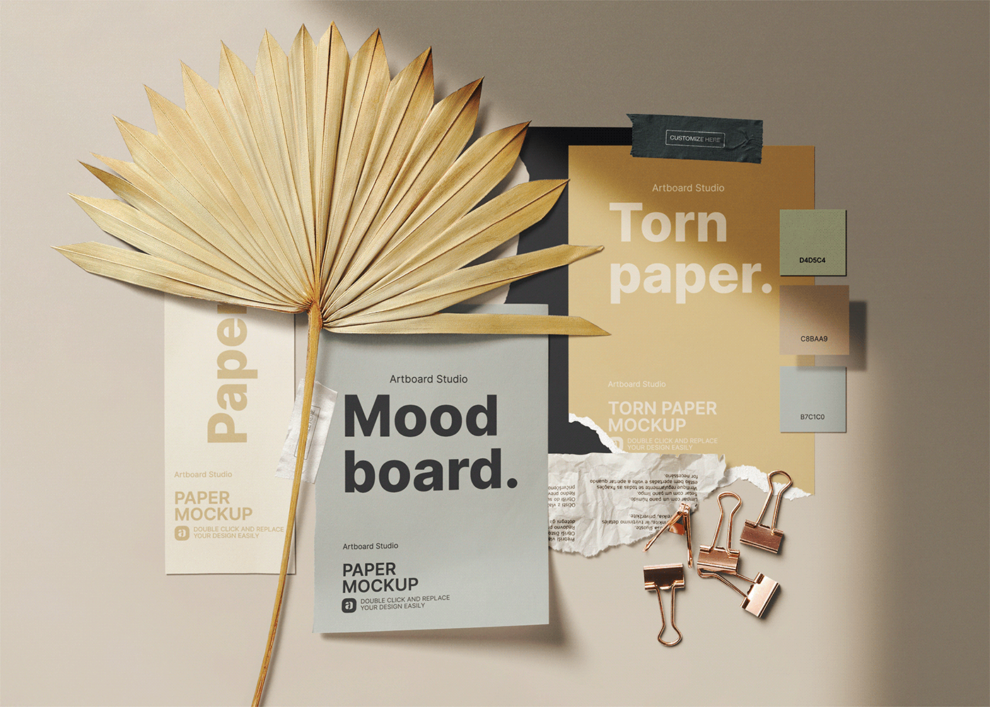 branding  Cosmetic identity marketing   Mockup moodboard Packaging product social media template