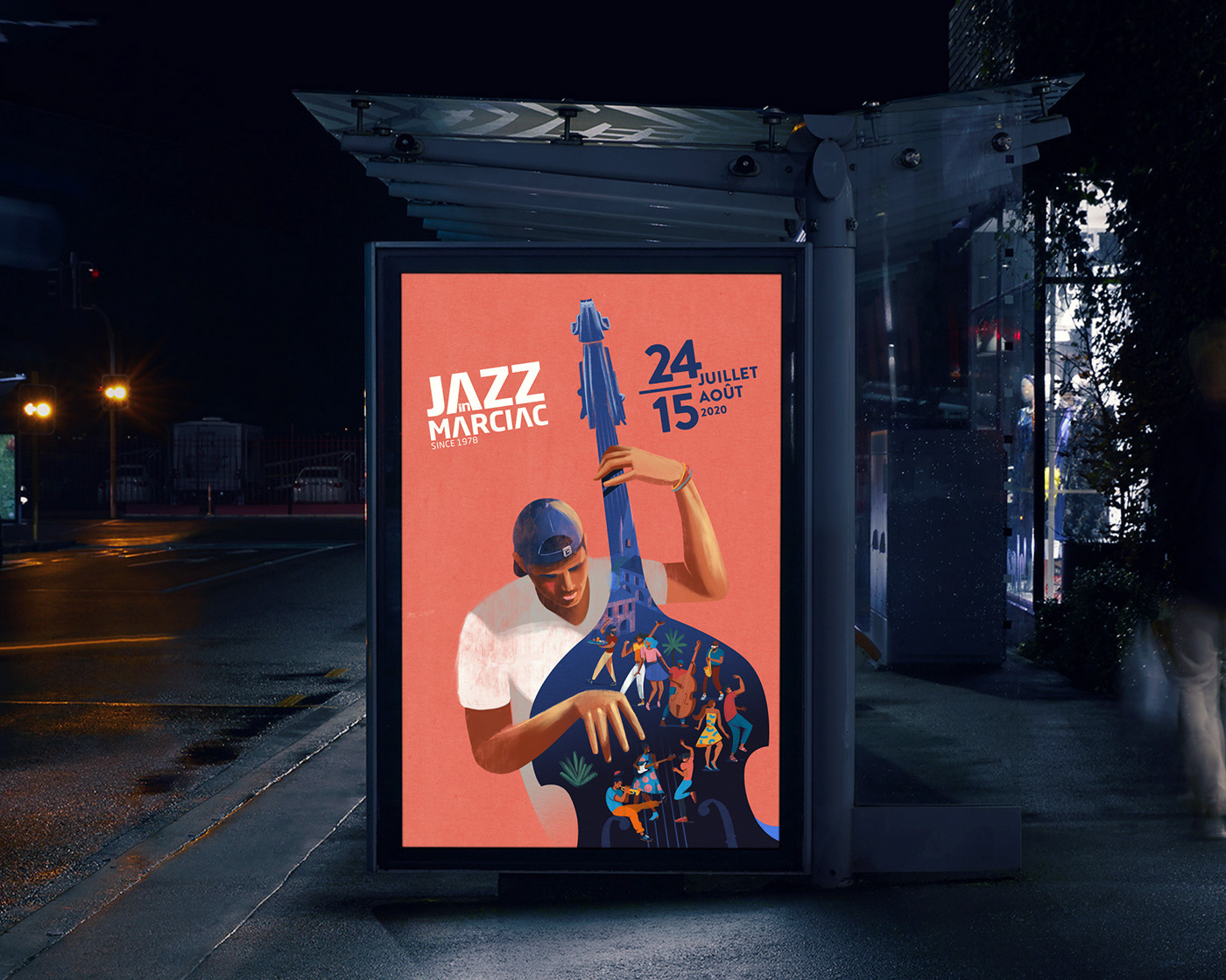 illustration pour le festival Jazz in Marciac 2020