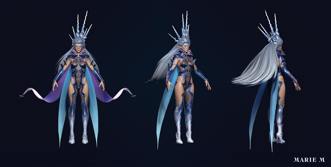 Shiva Fan Art Final Fantasy Xiv Game Model On Behance