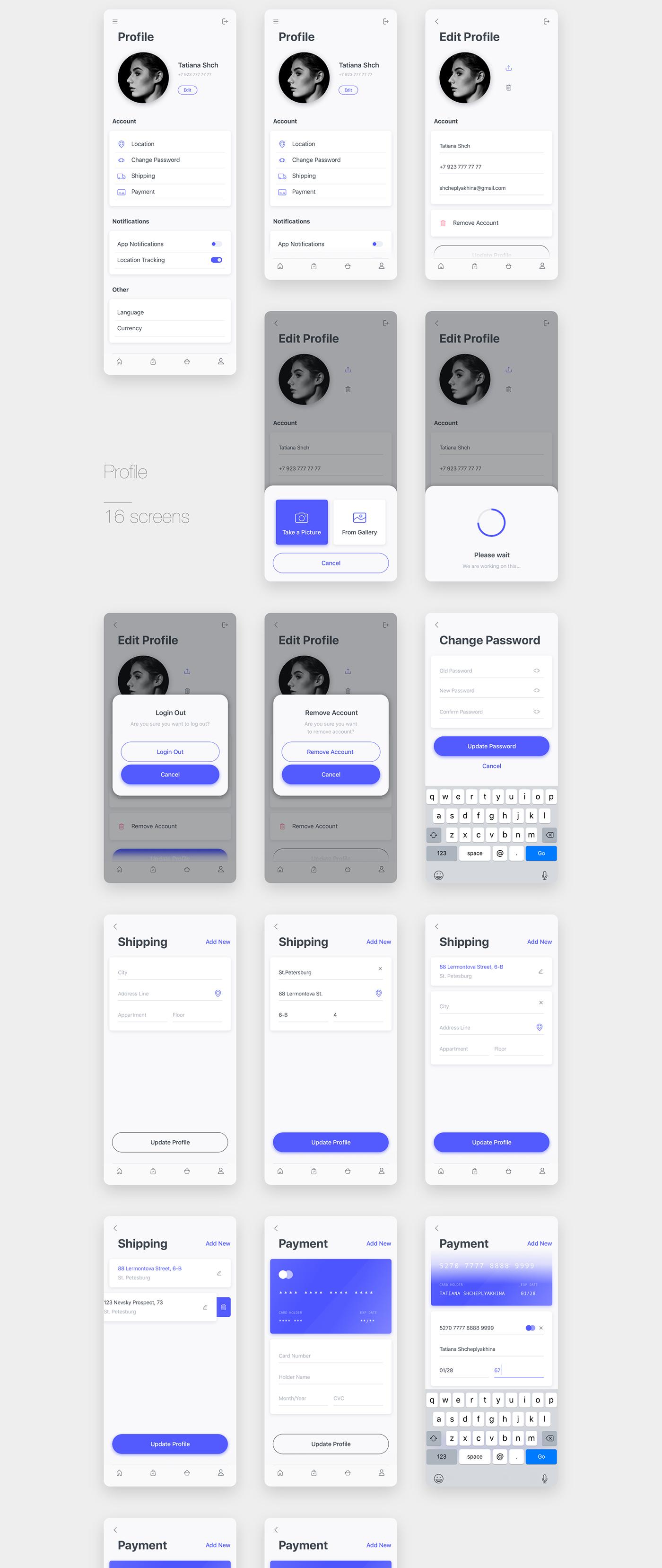 UI sketch Mobile app delivery ios iPhone x Adobe XD ui kit Food  Minimalism