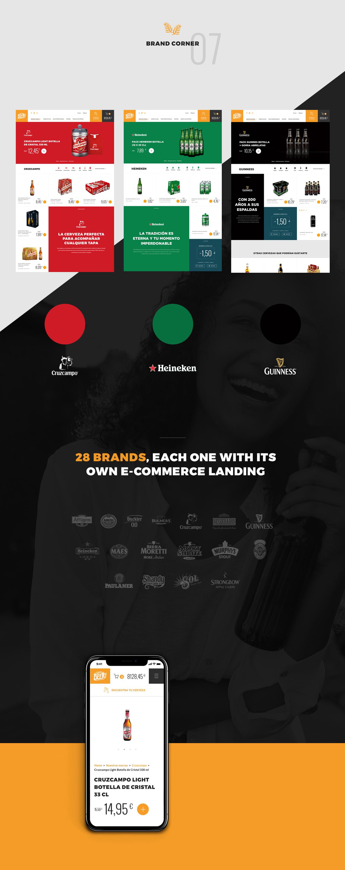 Ecommerce beer shop Responsive Web UI ux smartphone tablet product