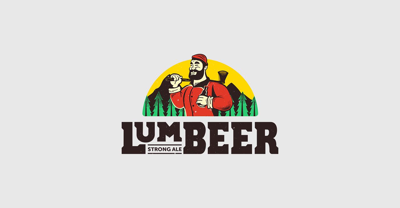 beer lumber lumbeer wood paul bunyan lumberjacks rustic axe Tree  red