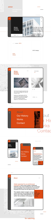 concept ux UI Webdesign architecture studio agency portfolio promo landing