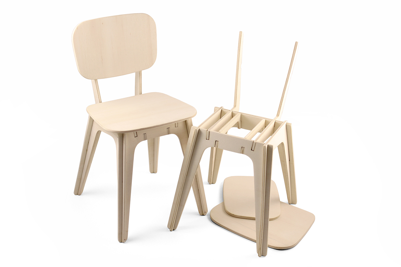 Flat Pack Children Chair Concept On Behance