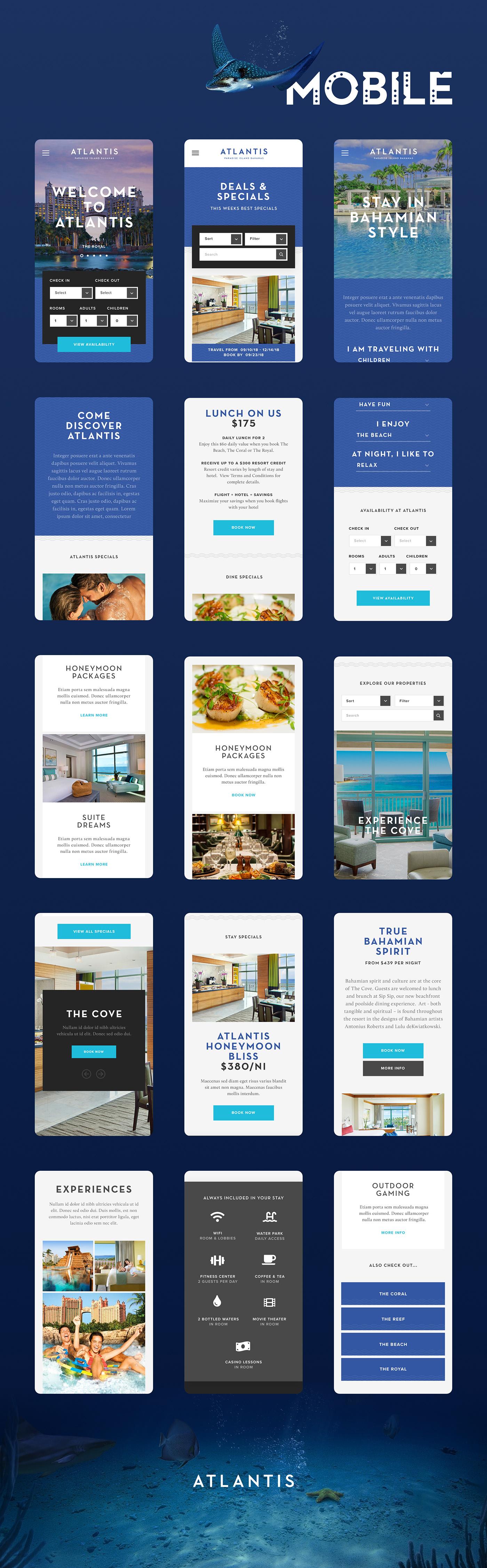 UI / UX UI ux Web Responsive mobile Caribbean resort