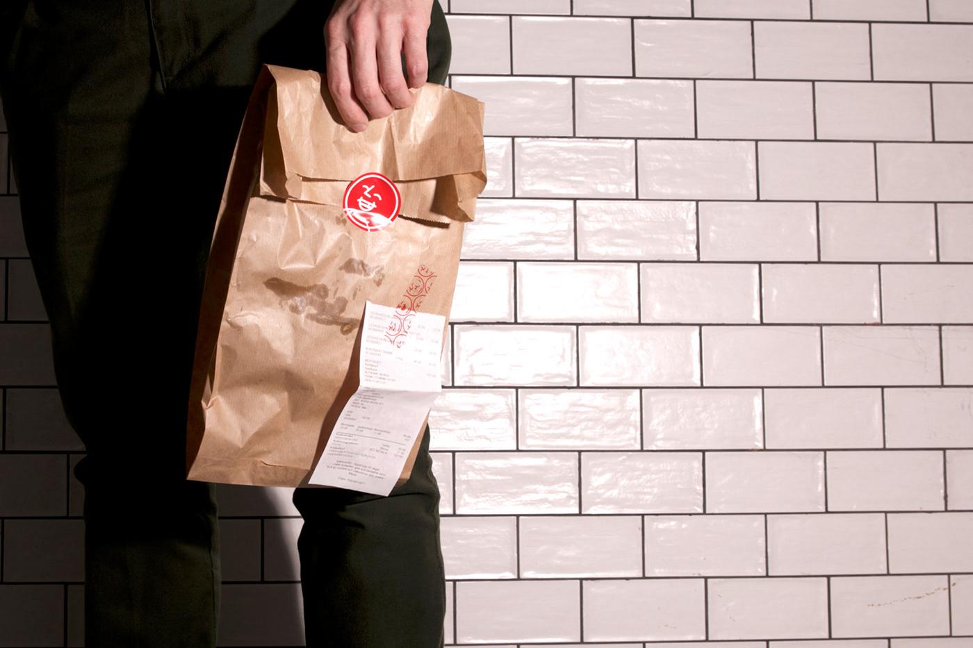 bar bistro branding  logo red restaurant Fast food identity Street Food visual identity