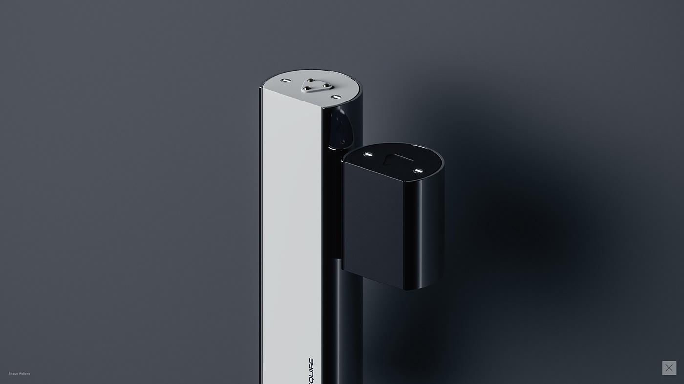 concept design industrial design  product design  3D rendering CGI power bank battery pack keyshot fusion 360
