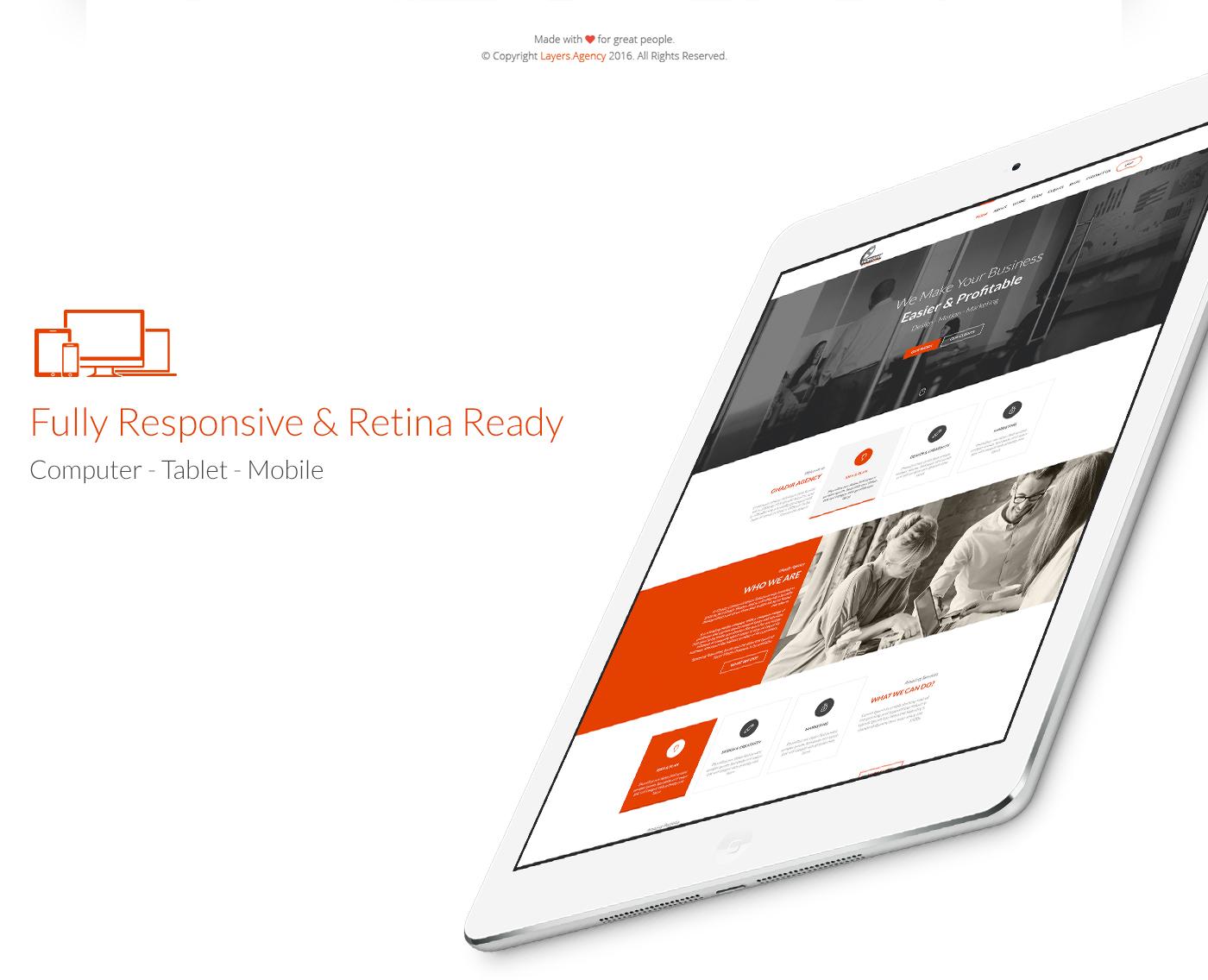 agency Web design mobile Responsive bootstrap