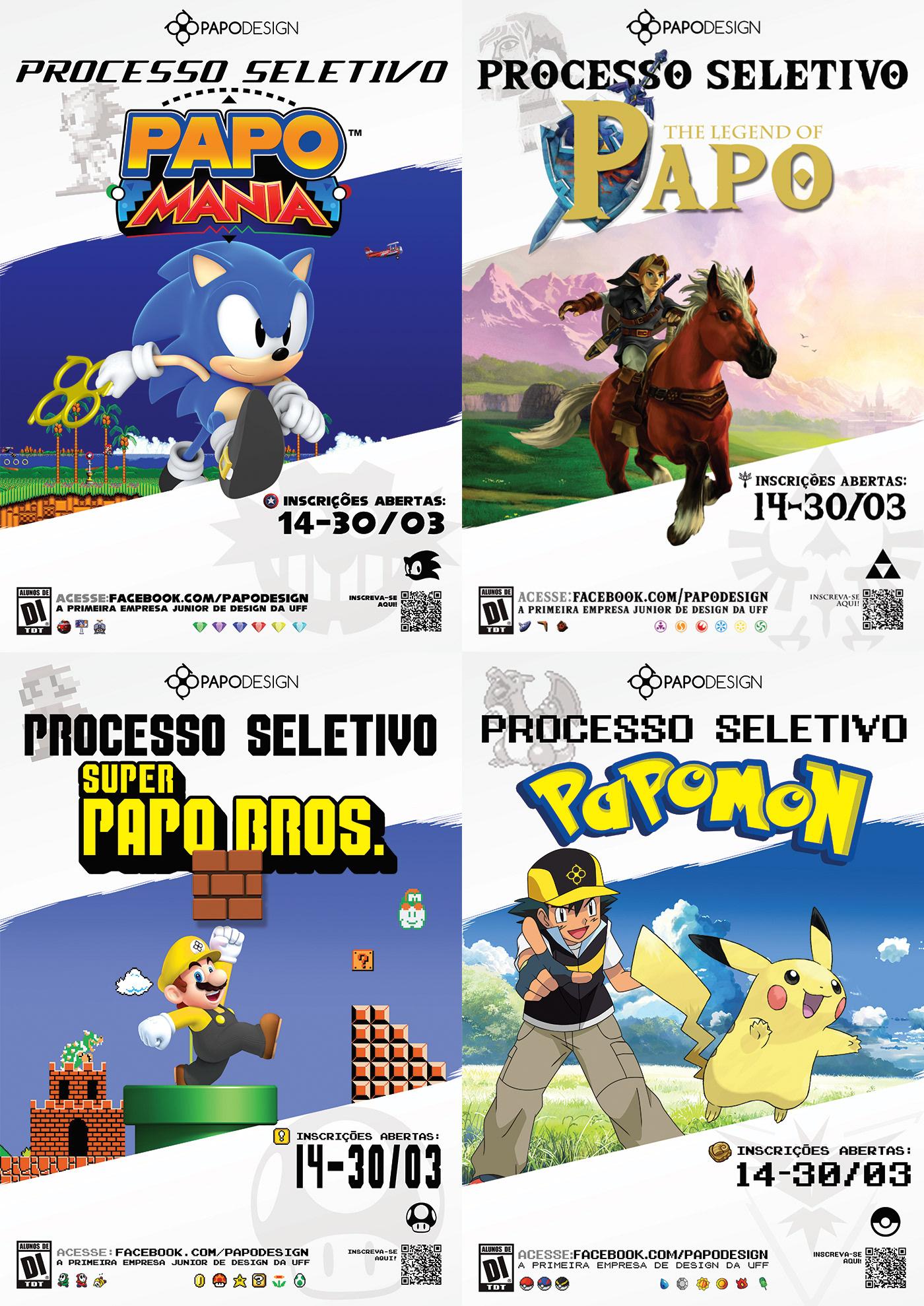 Papo Design Videogames Processo Seletivo gamefication empresa júnior marketing   Video Editing UFF Games gif