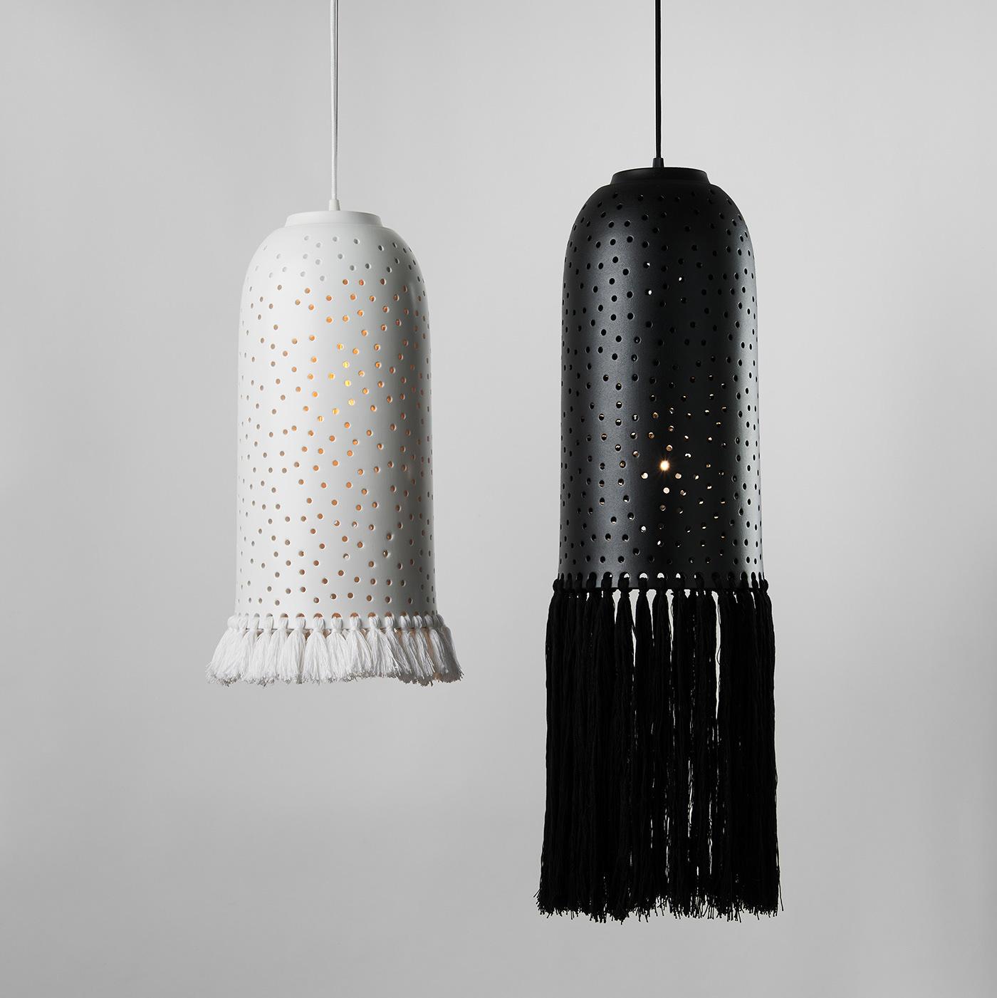 ceramics  ceramics lamp design hygge hygge style KononenkoID Lamp light lighting pendant lamp
