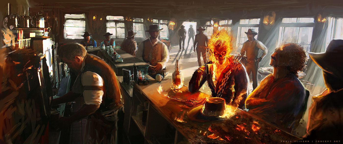 Ghost Rider Illustration On Behance