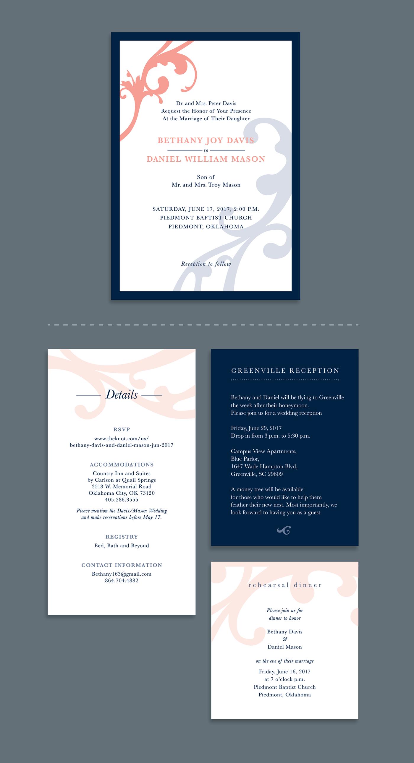 Davis/Mason Wedding Invites on Behance