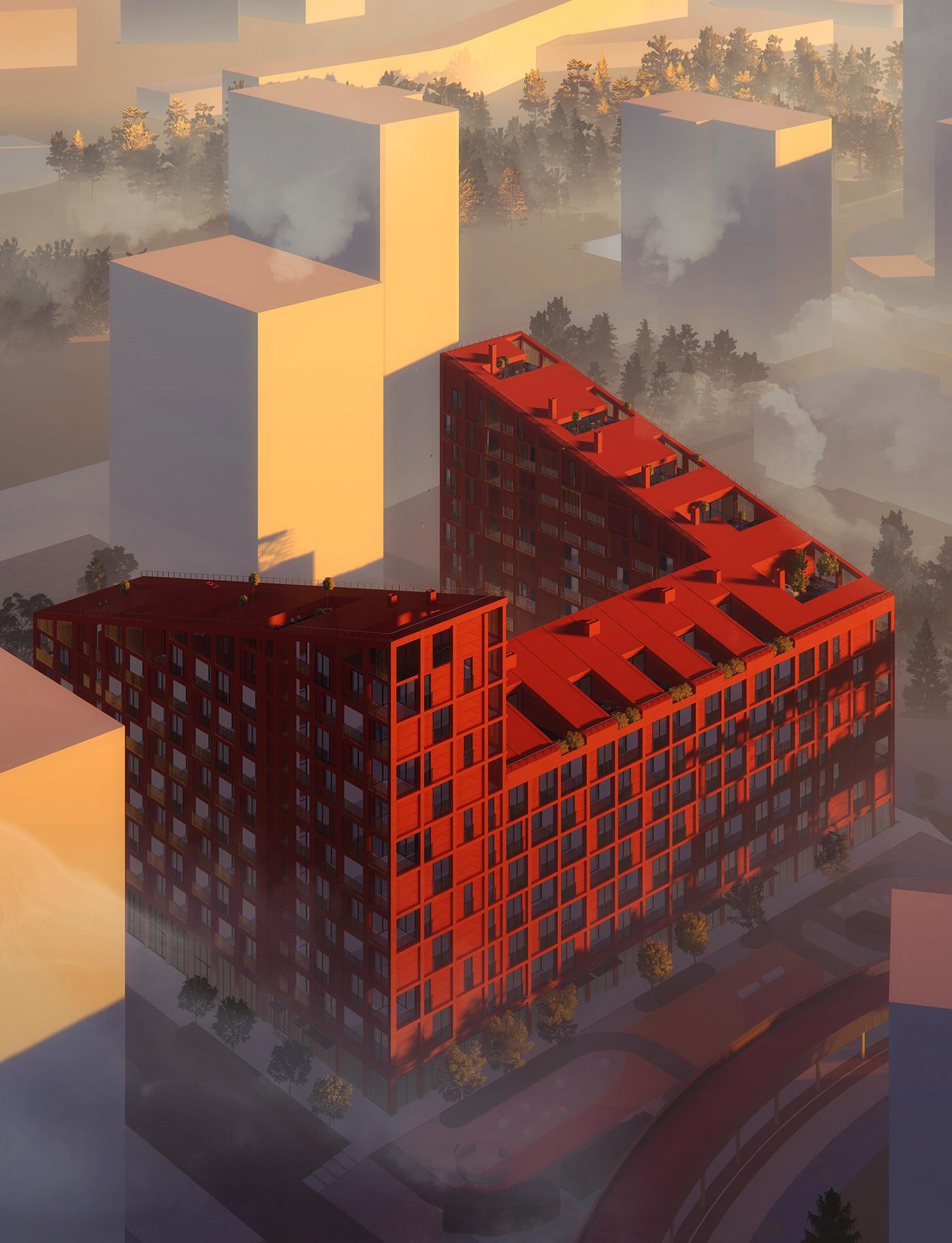 architecture gallery housing interior design  Landscape publicspace visualization