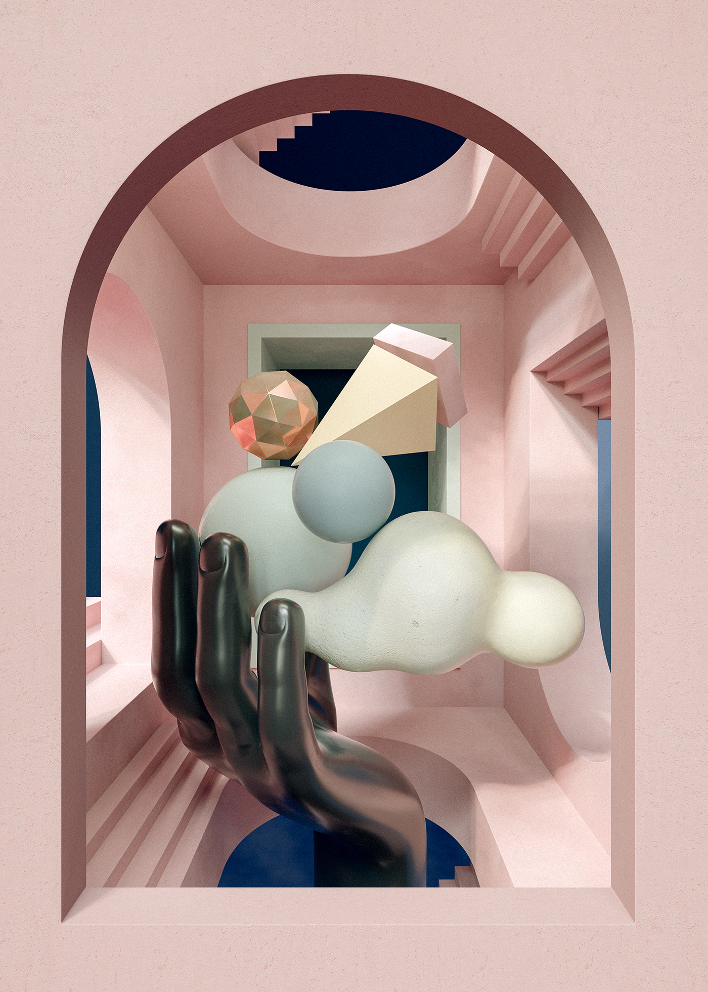 portals 3D design art direction  cinema 4d c4d Digital Art  ILLUSTRATION  Window owe martirez