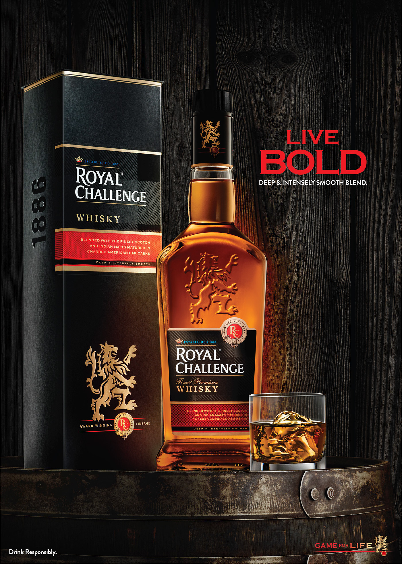 Royal Challenge Whisky Product Campaign 2015 On Behance
