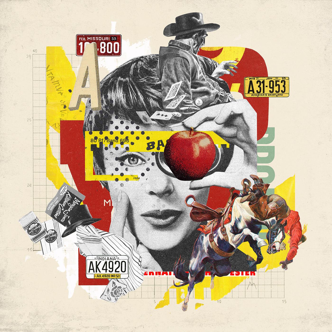 artwork collage cut and paste digital graphic graphic design  ILLUSTRATION  イラスト コラージュ